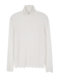 Dry wave angora turtleneck top