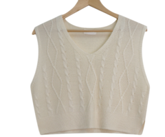 Honey Crop Twisted Knitwear Vest