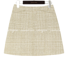 A-Line Tweed Mini Skirt