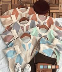 Melody Argyle Thick Cardigan
