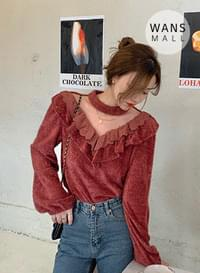 kn3481 finger frill party look knit