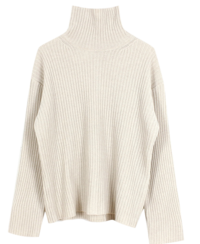Back Slit Turtle neck Knit
