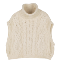 Amber turtleneck knit vest
