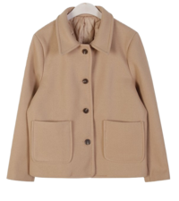 ★Own production, shipped on the same day ★ Wanted short coat ♥ 40% wool + quilted lining