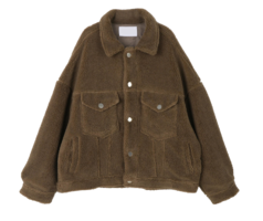 Unisex trucker shearling jacket