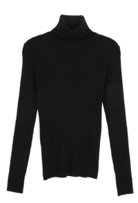 Koi slim ribbed turtleneck knit