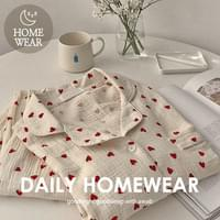 #homewear:_Red Heart Pajama Set