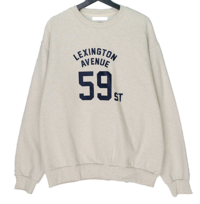 Lex lettering overfit Fleece-lined Sweatshirt 長袖上衣