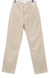 Corduroy long loose fit straight pants