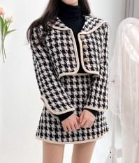 Story Check Jacket Skirt Two Piece