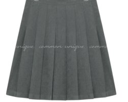 Side Zip Mini Pleated Skirt
