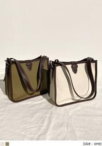 Contrast Edge Shoulder Bag