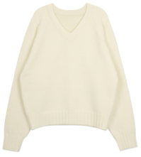 Pay Raglan V Neck Knit