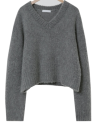 Downey Alpaca Cropped Knit