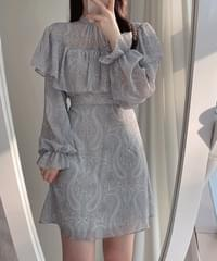 Amy Paisley Cape Dress 2color