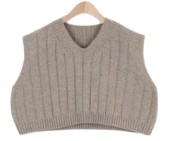 Pavan V-neck knit vest