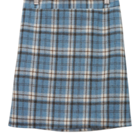 Stew check woolen skirt