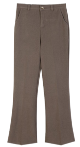 Wool boot cut slacks ♥ winter slacks recommended