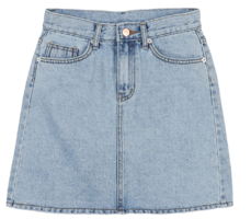 Trick denim mini skirt