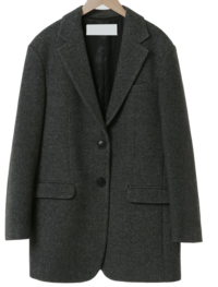 Standard Herringbone Wool Half Coat