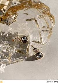 NORA CUBIC SQUARE DROP EARRING