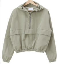 Cropped anorak hooded Jacket