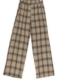 Marine check banding trousers