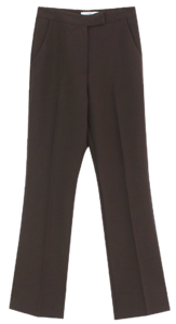 Modern Basic Slacks; Blue Gray