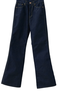 Wide bootcut trousers