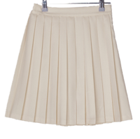 Walden banding pleated mini skirt