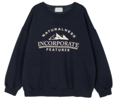Mountain Fleece-lined crew neck sweatshirt 長袖上衣