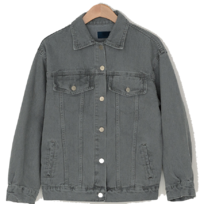 Crack Graywashed Denim Jacket ジャケット