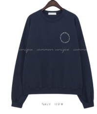 Chest Lettering Print Loose Sweatshirt