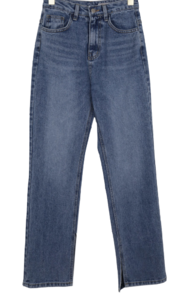 Movie slit denim trousers