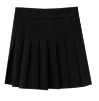 Pleated Fleece-lined skirt