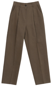 Dew Fleece-lined wide pintuck pants