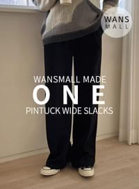 md0016 one pintuck wide slacks