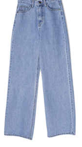 Baku straight wide-fit denim trousers