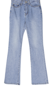 Baeneng slim Flared denim pants