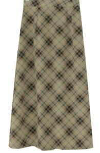 Plaid Slim Flare Long Skirt スカート