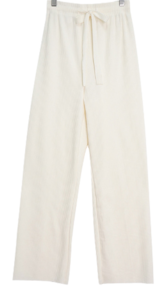 Spring wide Ribbed trousers