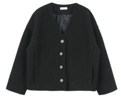 Maron No Collar Jacket