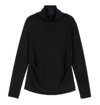 Mock Shirred Turtleneck Top