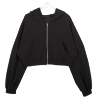 Cropped andu hood zip-up