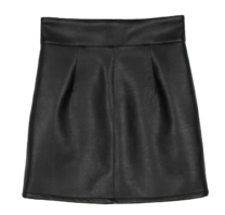 Klein leather mini skirt