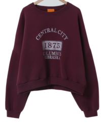 1875 printing overfit Fleece-lined Sweatshirt