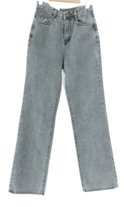 553 Ray Wide Gray Denim Pants