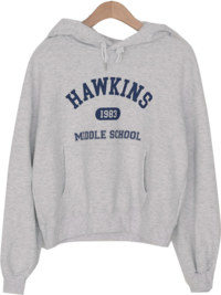 Hawkins semi-cropped hooded Sweatshirt
