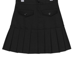 Kinshasa half pleated cotton mini skirt