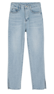 Barbie slit straight jeans